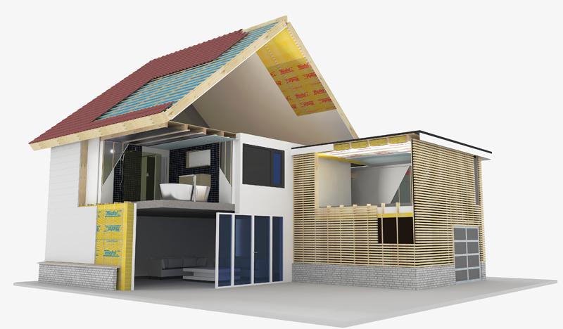Isero 3D huis Dak en licht 800